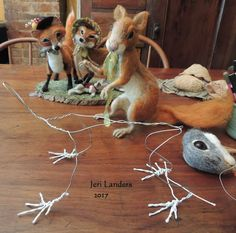 Hopalong Hollow Gazette: Anatomy of a Needle felted Squirrel