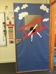Classroom door decoration travel theme topic adventure learning