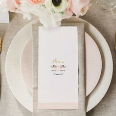 Carte de menu champêtre pour mariage à personnaliser sur Carteland.com #mariage #menumariage #mariagechampêtre