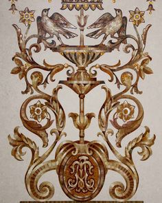 Мозаичная композицтя с гротескным орнаментом