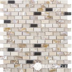 Shop our new mother of pearl and marble minibrick tiles.  Free Shipping!