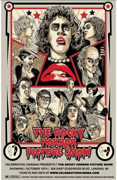 The Rocky Horror Picture Show - poster by Steve Jencks Rocky Horror Show, The Rocky Horror Picture Show, Scary Movies, Horror Movies, Celebration Cinema, Horror Posters, Alternative Movie Posters, Concert Posters, Illustration
