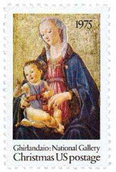 1975 10c Christmas Madonna and Child