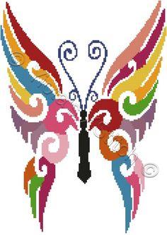 Butterfly cross stitch kit, pattern