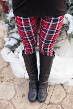 The Pink Lily Boutique - Red Plaid Leggings Clearance!! , $8.99 (http://thepinklilyboutique.com/red-plaid-leggings-clearance/)