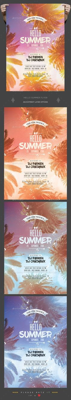 Summer Flyer — Photoshop PSD #party flyer #4x6 • Download ➝ https://graphicriver.net/item/summer-flyer/19450463?ref=pxcr