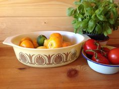 Vintage 1960s Promotional USA Pyrex Golden Classics Dish by Onmykitchentable Vintage on Gourmly