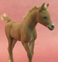 *NEEDLE FELTED ART ~ felted foal Needle Felted Animals, Felt Animals, Needle Felting Tutorials, Wet Felting, Felt Dolls, Soft Sculpture, Felt Art, Felt Crafts, Textile Art