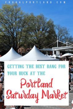 One of the most iconic Portland destinations is Portland Saturday Market. Want to know how to get the best bang for your buck there? Stuff To Do, Things To Do, Good Things, Oregon Travel, Staycation, Summer Travel, Portland Oregon, Oh The Places You'll Go, Day Trips