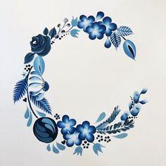 Rose Frame, Flower Frame, Dot Painting, Painting Patterns, Birthday Card Drawing, Royal Blue Flowers, Coffee Cup Art, Madhubani Art, Instagram Frame