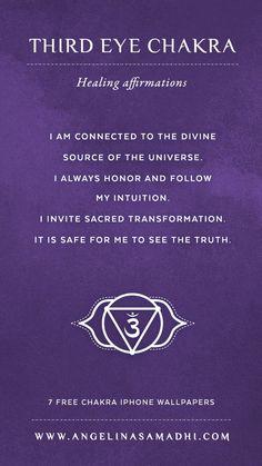Third Eye Chakra Healing Affirmations – chakra affirmations, chakras, energy, healing, blockages, affirmations, positive affirmations, growth, om