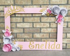 Image result for photo frame prop baby shower
