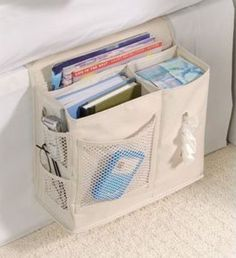 Bedside Storage Caddy is consider a top must have dorm room essential product. Some dorm stuff like our bedside caddy is a real need. Without this convenient products students must jump in and out of bed for the smallest of things. Bedside Caddy, Bedside Organizer, Bedside Storage, Bed Caddy, Bedroom Storage, Hanging Storage, Hanging Organizer, Cama Caddy, Bedside Tables