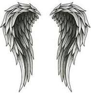 Image result for angel wings shaped heart tattoos