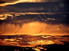 Fire Clouds / Dramatic Sunset Cloudscape / Artist-Signed High Res Giclée Print / Original Color PHOTOGRAPHIC DIGITAL ART by PhotoClique on Etsy