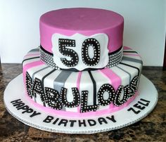 Fabulous 50 Birthday Cake