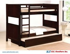 Twin Bunk Bed w/Pull Out Bed Trundle