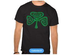 Spiral Shamrock, Style is Basic Dark t-shirt, color is Black Irish Design, Spiral, Dark, Mens Tops, T Shirt, Color, Style, Fashion, Supreme T Shirt