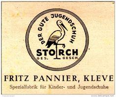 Original-Werbung/ Anzeige 1948 - STORCH JUGENDSCHUHE / FRITZ PANNIER - KLEVE - ca. 100 x 65 mm