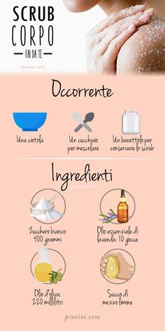 DIY Body Scrub- Scrub Corpo Fai Da Te DIY body scrub with 400 grams of sugar; 220 ml of olive oil; 10 drops of lavender essential oil; Beauty Kit, Diy Beauty, Beauty Hacks, Beauty Guide, Beauty Advice, Beauty Care, Face Beauty, Homemade Beauty, Beauty Ideas