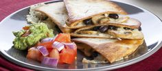 This #vegetarian #recipe for Portobello and Black Bean Quesadillas is sure to be a delicious dish! #TacoTuesday