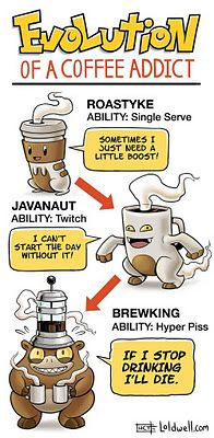 Funny pictures about Evolution of a coffee addict. Oh, and cool pics about Evolution of a coffee addict. Also, Evolution of a coffee addict. Coffee Talk, I Love Coffee, Coffee Break, Coffee Cups, Coffee Coffee, Drink Coffee, Coffee Shop, Coffee Zone, Coffee Maker