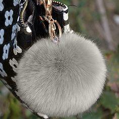 Bluelans 7cm Keyring Pom Pom Keychain Ball Faux Fur Soft Fluffy Charm  Dangle Cute Keychain Handbag 2146c7d9ac769