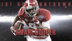 Amari Cooper, NFL First Round Countdown on Behance - Highlighting Alabama's 1st Round NFL Draft picks under Nick Saban and Alabama's Decade of Dominance #Alabama #RollTide #Bama #BuiltByBama #RTR #CrimsonTide #RammerJammer