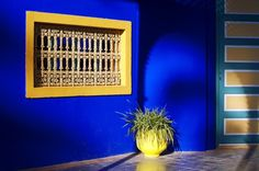 "And even more YSL blue. It has a name ""Majorelle Blue"" for the artist, Jaque Majorelle, who created it."