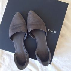 HP Vince Flats Vince Nina Two-Piece d'Orsay Flats | Made in Italy | Size 38  Please make all offers through the offer button  ✨10%✨off with bundle!  Fast Shipping Non-Smoking No trades/PayPal Open to fair offers Instagram: laurentopor Tumblr: nearlynewbylo  ✨ Happy Poshing ✨ Vince Shoes Flats & Loafers