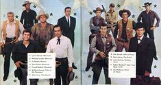 Western Movie & TV Photos from The Golden Age Gallery 38 Michael Ansara, Earl Holliman, Joe Francis, Johnny Ringo, Nick Adams, Lorne Greene, Im Your Huckleberry, Pernell Roberts