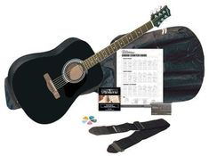 #guitar Silvertone SD3000 Acoustic Guitar Package Black New Free Shipping please retweet