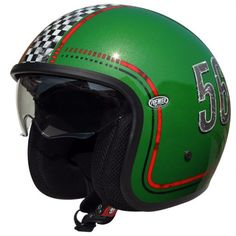 Premier Motorrad Helm Vintage Jethelme Fl12 Yellow-M