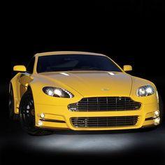 Beautiful Yellow Aston Martin