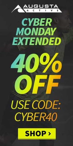 Cyber Monday Special 40% Discount on #AugustActive #apparel