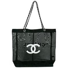 Chanel - Black mesh tote shopping gift bag Chanel Paris 9531558e2c275