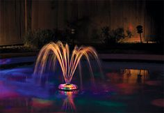 Swimming Pool Light Floating Underwater Light Show Fountain Swim Party LED Decor for sale online Swimming Pool Fountains, Swimming Pool Lights, Swimming Pool Water, Pool Spa, Backyard Wedding Pool, Backyard Pool Landscaping, Landscaping Ideas, Underwater Swimming, Underwater Lights