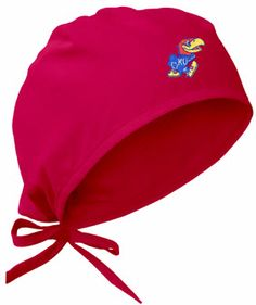 c6d53556b012d University of Kansas Red Scrub Cap