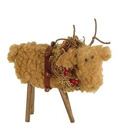 Look what I found on #zulily! Fuzzy Reindeer Ornament #zulilyfinds