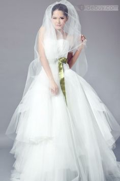 Charming Strapless A-Line Ruffles Wedding Dress