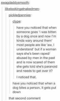 Ok, so if rape is just touching a woman or saying something to her, then that means that you all just kill all men? Ok sure right ok Tumblr Abuse, Tumblr Sexism, Feminism Tumblr, Tumblr Posts, Tumblr Stuff, My Tumblr, Tumblr Funny, Feminism Funny, Human Rights