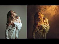 Photoshop Manipulation Photo Effects Tutorial | Light on Girl-naranja - muy bueno