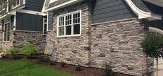 Home Exterior: BLEND - Echo Ridge® & Black Rundle, SOUTHERN LEDGESTONE - Cultured Stone® Brand_Manufactured Stone Veneer