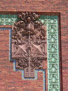 Louis Sullivan. National Farmers Bank, Owatonna, MN. 1908 Brick Architecture, Historical Architecture, Beautiful Architecture, Architecture Details, Louis Sullivan, Chicago School, Artistic Installation, Interesting Buildings, Arquitetura
