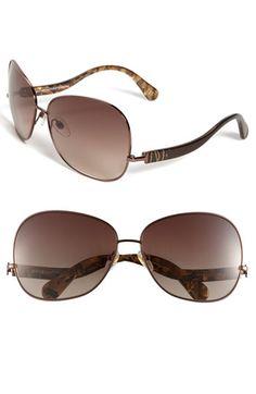 Diane von Furstenberg oversized retro sunglasses