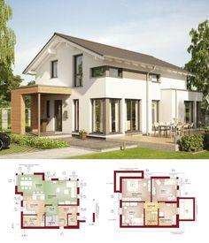 fertighaus modern haus solution 134 v2 living haus einfamilienhaus bauen grundriss 5 zimmer. Black Bedroom Furniture Sets. Home Design Ideas
