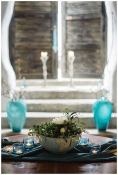 Pannonian Chic, tiffany blue, white, grey,brown, decoration - Hellbunt Events