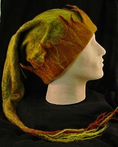 Pixie hat. Such talent. I want one of these hats