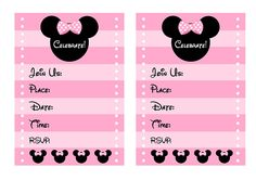 free minnie mouse printable invitations