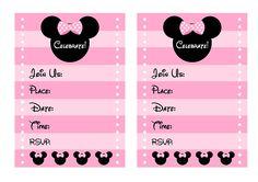 free minnie mouse printable invitations
